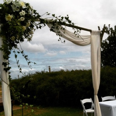 One Day Your Way - Windows on the Bay ceremony set up bayside wedding