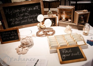 One Day Your Way - beach themed reception at the Brighton Savoy