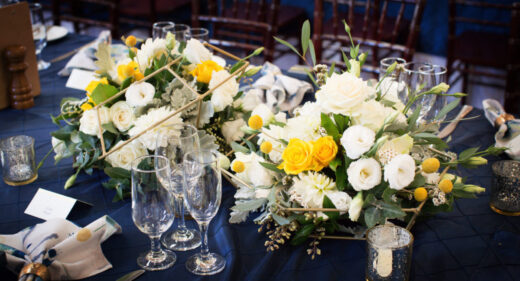 Navy and gold styling at the Abbotsford Convent 41