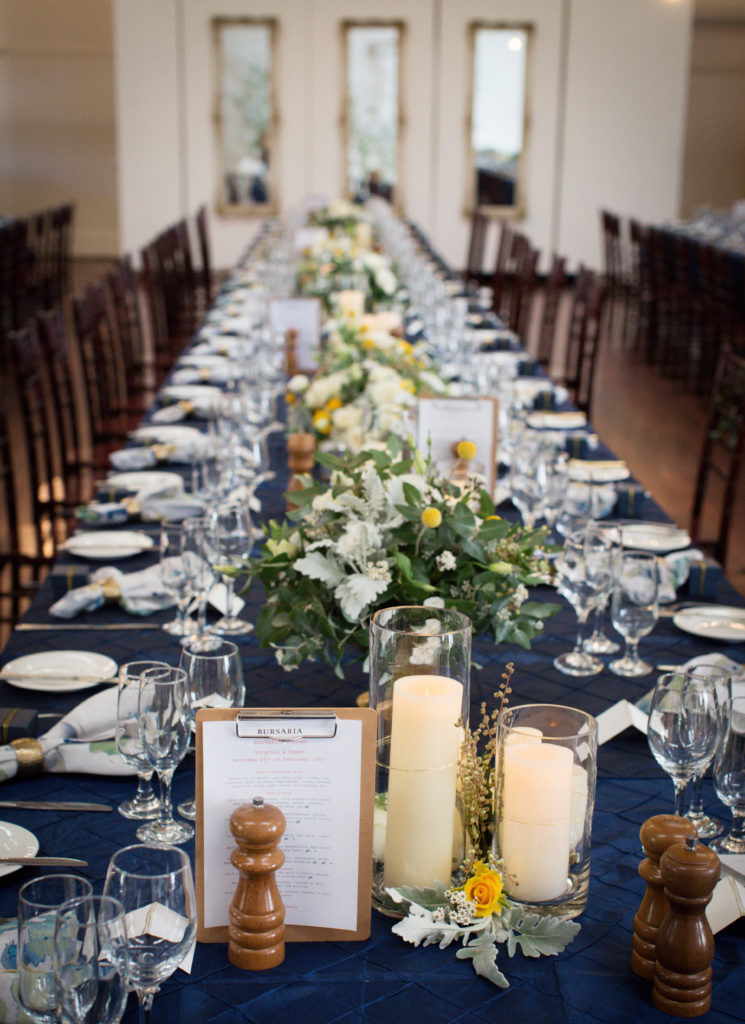 Navy and gold styling at the Abbotsford Convent 43