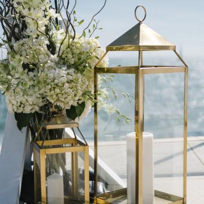 large gold lanterns