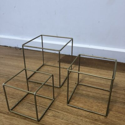 Set of 3 cube centrepieces hire range by One Day Your Way